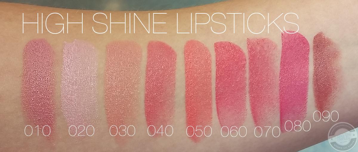 trend-it-up-high-shine-lipstick-swatches Swatches der Lippenrodukte von Trend it up + Review Ultra Matte Lipsticks