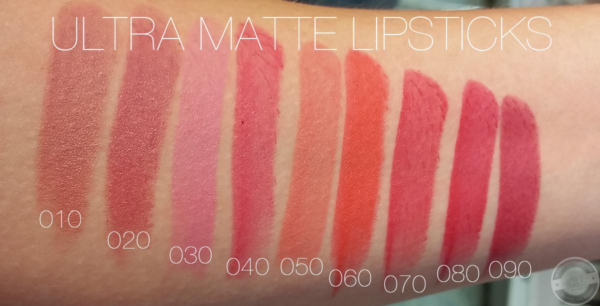 trend-it-up-ultra-matte-lipstick-swatches Swatches der Lippenrodukte von Trend it up + Review Ultra Matte Lipsticks