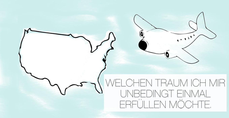 amerika-flugzeug Welchen Traum ich mir unbedingt einmal erfüllen möchte. | Werbung
