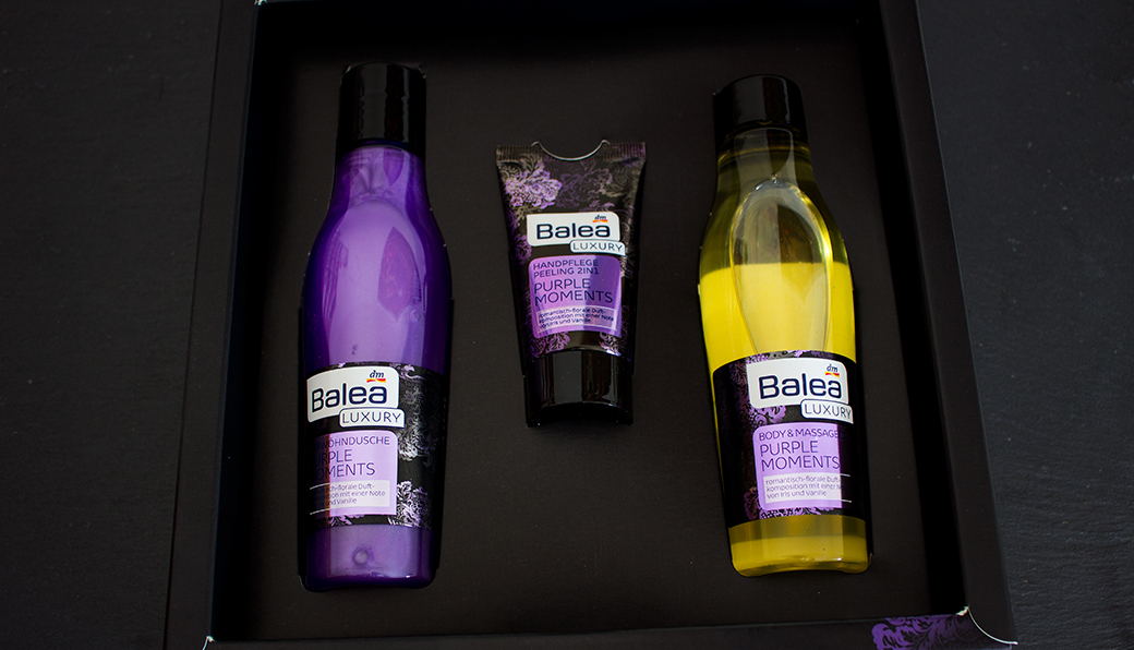 balea-luxury-purple-moments-geschenk-set-3 Balea Luxury Purple Moments Geschenkset mit Duschgel, Massageöl & 2in1 Handcreme