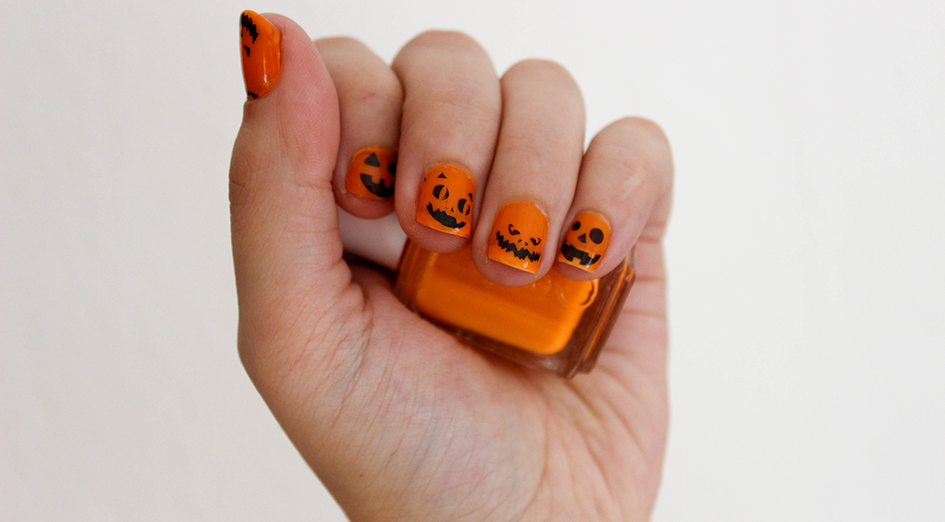 halloween-nageldesign-kuerbis Kürbis Nageldesign | It's Halloween Blogparade