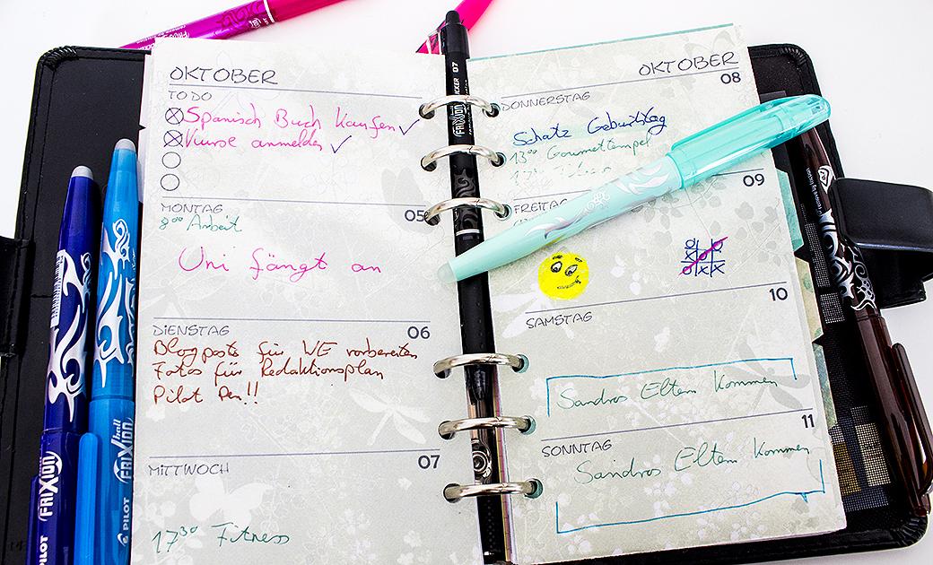 pilot-pen-stifte-1 Colour my week - Wochenplanung mit den FriXion Stiften | Werbung