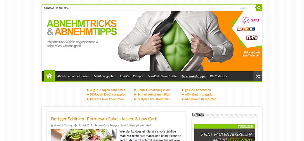 website-abnehmtricks-abnehmtipps-screenshot Abnehmen ohne Hunger (+ Low Carb Flammkuchen Rezept) | Werbung