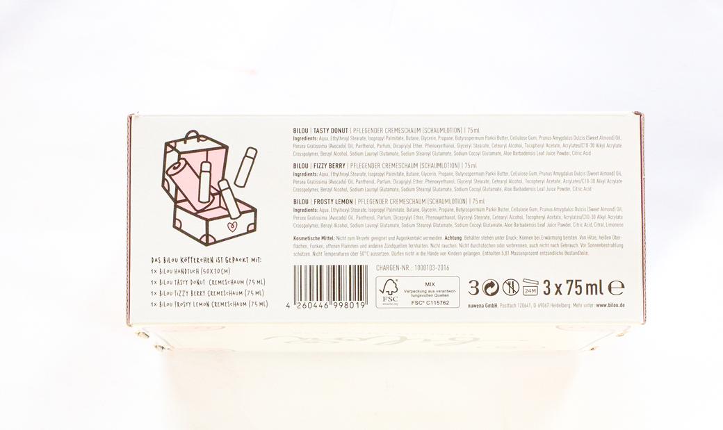 bilou-box-limitiert-cremeschaum-1 bilou Box - Pflegende Cremeschäume + neuer Duschschaum Chocolate Cupcake  bilou-box-limitiert-cremeschaum-2 bilou Box - Pflegende Cremeschäume + neuer Duschschaum Chocolate Cupcake  bilou-box-limitiert-cremeschaum-3 bilou Box - Pflegende Cremeschäume + neuer Duschschaum Chocolate Cupcake