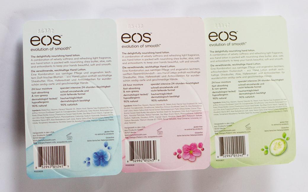 eos-handcreme-4 eos Handcreme Erfrischende Gurke, Beerenblüte & Frische Blumen
