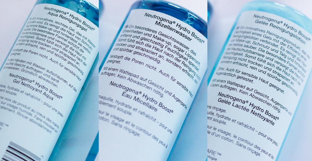 neutrogena-hydro-boost-reinigung-2 Neutrogena Hydro Boost - die neue Pflegeserie mit Hyaluron-Gel-Komplex