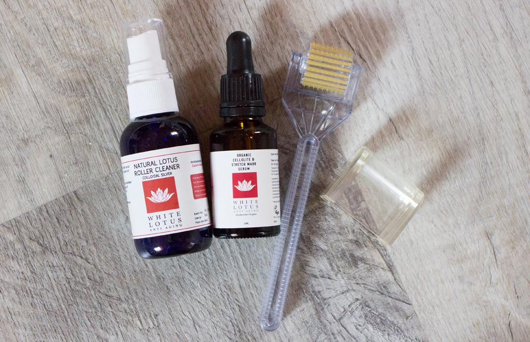 white-lotus-dermaroller-microneedling-2 Microneedling mit dem White Lotus Dermaroller   Werbung