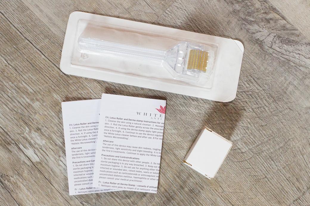 white-lotus-dermaroller-microneedling-5 Microneedling mit dem White Lotus Dermaroller   Werbung