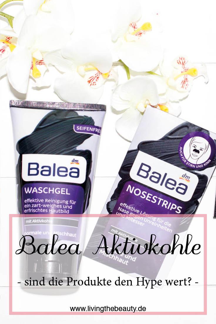 Balea Aktivkohle Nosestrips, Waschgel & Tuchmaske