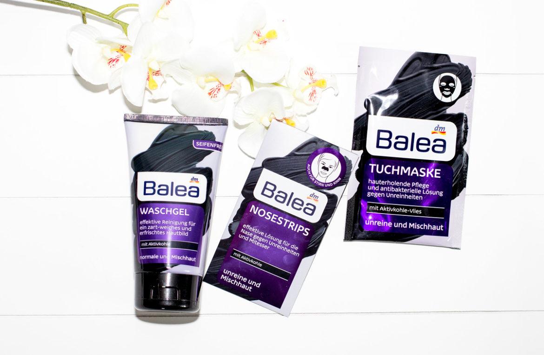 Balea Aktivkohle Nosestrips, Tuchmaske & Waschgel