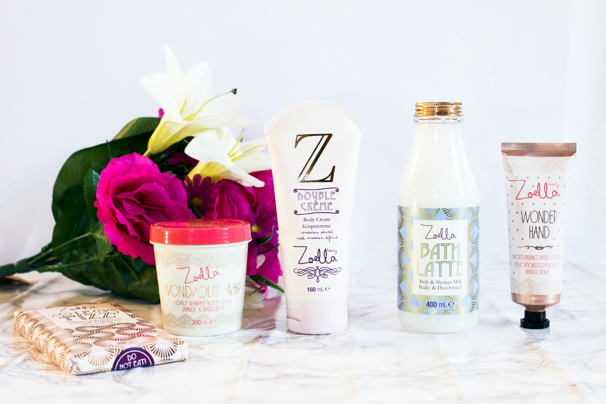Zoella Beauty - Le Fizz Badebrause, Wondrous Whip Body Cream, Double Creme Body Cream, Bath Latte & Wonder Hand Cream