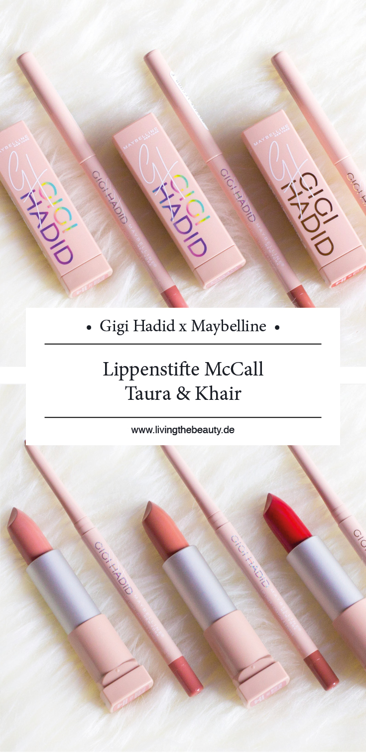 Gigi Hadid x Maybelline Make up Collection - Lippenstift McCall, Taura & Khair