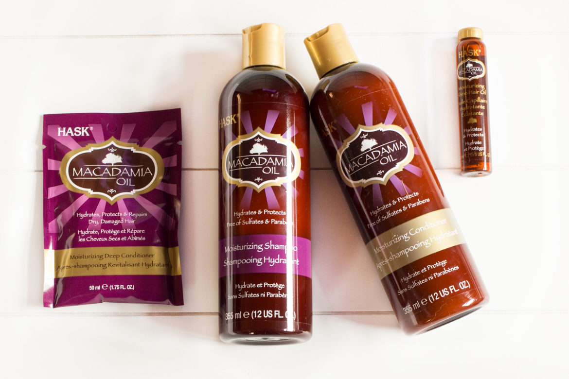 HASK Macadamia Oil Pflegeserie | Shampoo, Conditioner, Deep Conditioner & Hair Oil