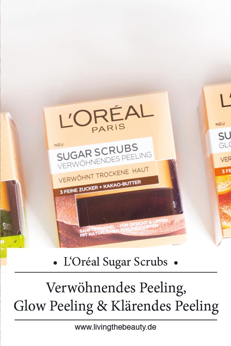 L'Oréal Sugar Scrubs - Verwöhnendes Peeling, Glow Peeling & Klärendes Peeling
