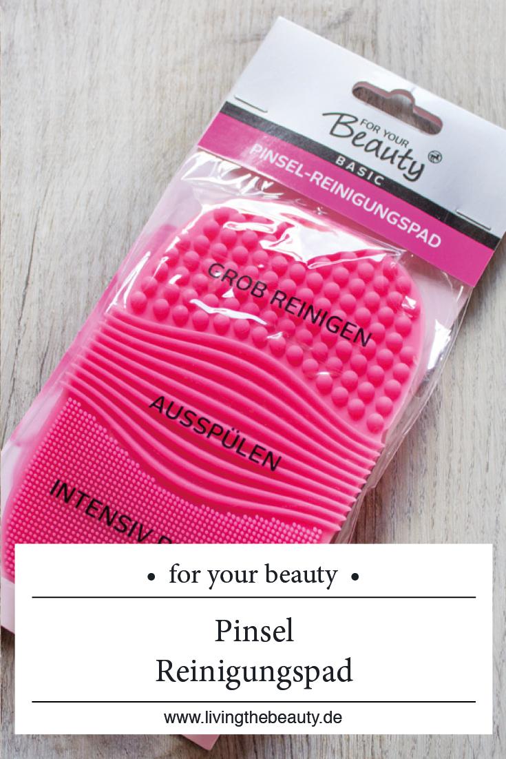 Für effektivere Pinselreinigung: Das for your Beauty Pinsel-Reinigungspad
