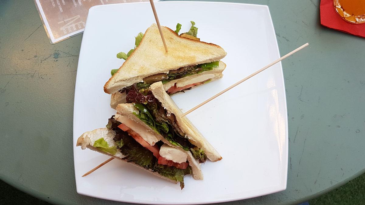 "Sandwich ""Max Kolbe"" im Max in Karlsruhe"