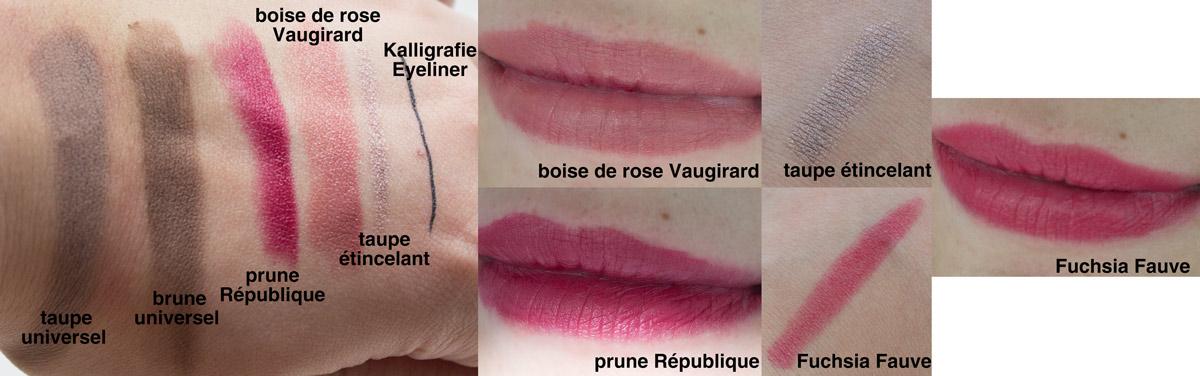Sothys Dekorative Kosmetik im Test - Lippenstifte, Eyeliner, Augenbrauenpuder und Lidschattenstift